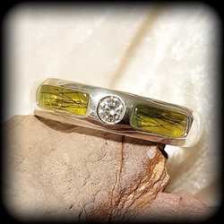 Double Inlay Ring in Sterling Silver