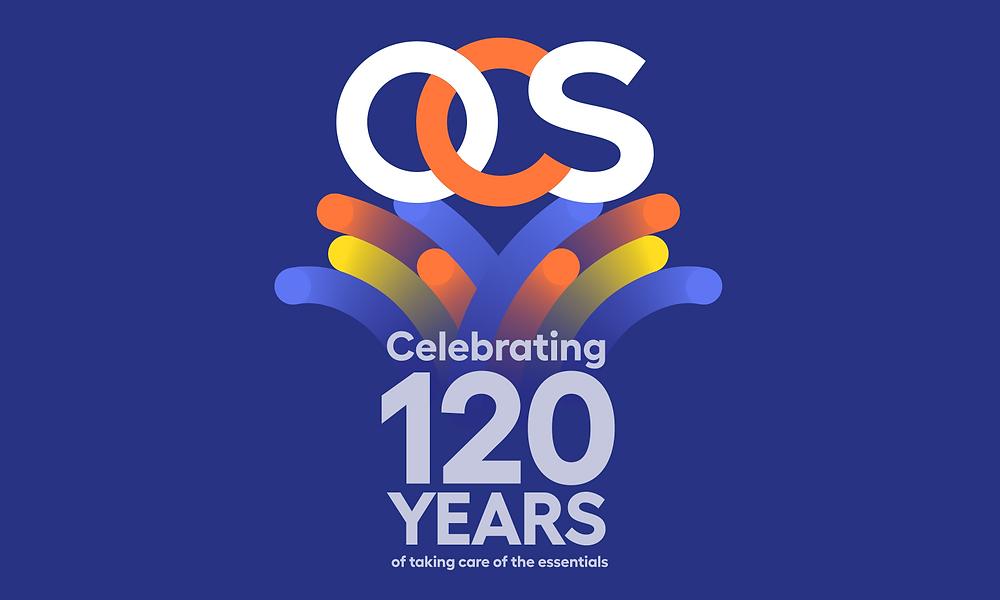 OCS 120 years Anniversary logo