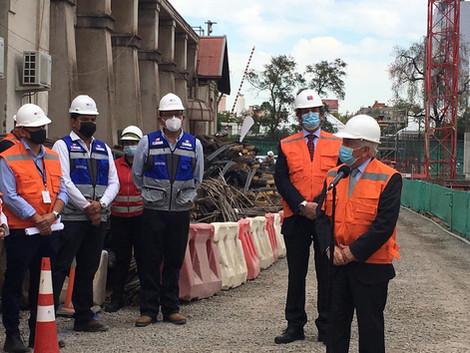 Ministro de Salud visita las Obras del nuevo Hospital Salvador y del Instituto Nacional de Geriatría