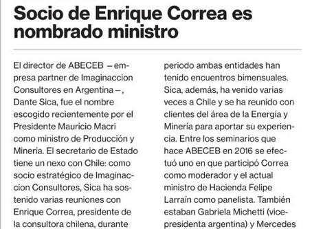 Socio de Enrique Correa es nombrado ministro en Argentina
