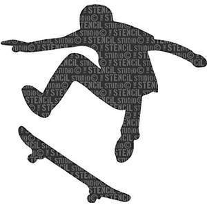 Skater Boy Stencil
