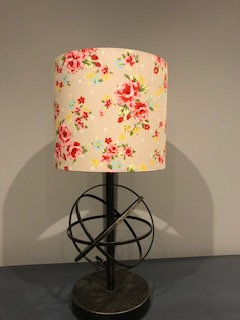 Beige Floral Lampshade