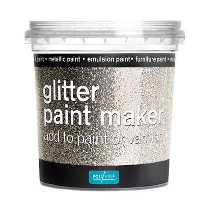 Silver - Glitter paint make