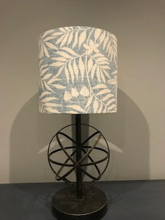 Blue/White Leaf Lampshade