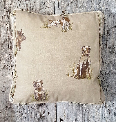Country Style Cushion - Dog Design