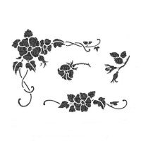 Rose and Ivy Stencil