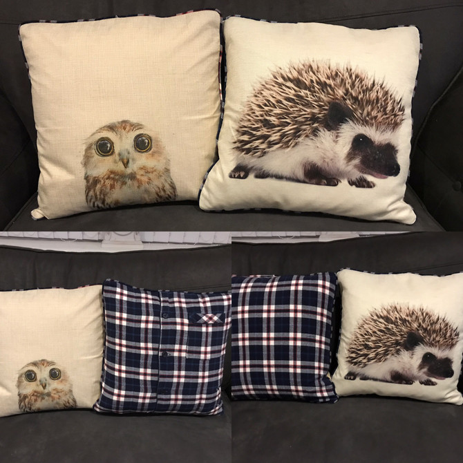 Here's Something different.... I just had the privilege of making these 2 special cushions for a lov