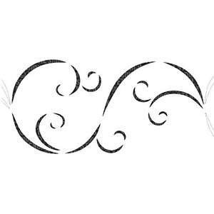 Swirl Border Stencil
