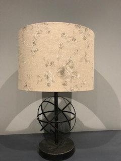 Grey/White Natural Lampshade