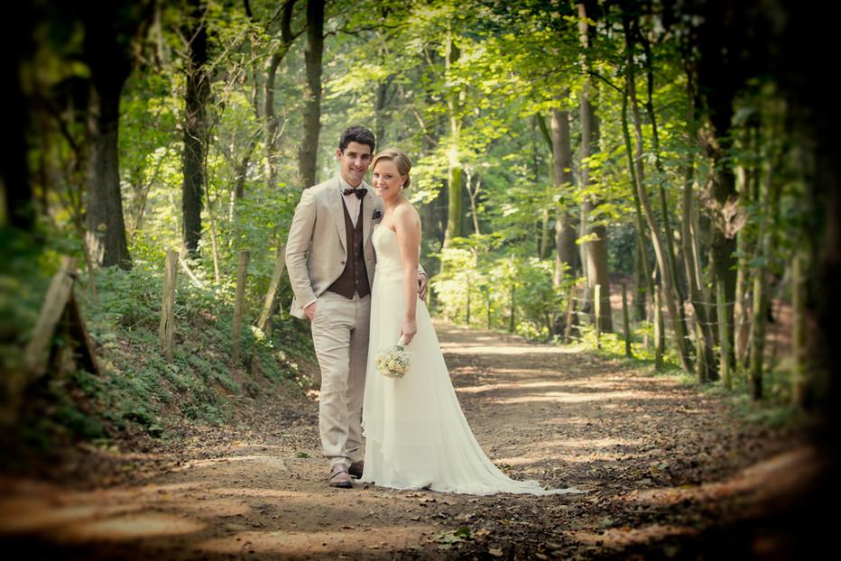 huwelijksreportage in bos