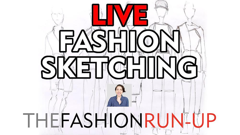 Fashion Sketching YouTube The Fashion Run-Up