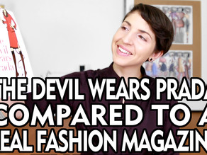 Book Review: THE DEVIL WEARS PRADA Compared To A Real Fashion Magazine