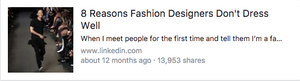 8 Reasons Fashion Designers Don't Dress Fashionably