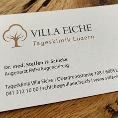 Visitenkarte Augentagesklinik Villa Eiche