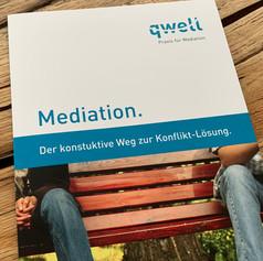 Logo und Faltprospekt Praxis für Mediation