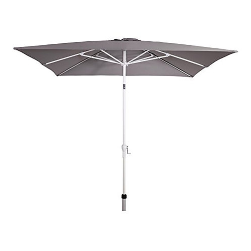 Sonnenschirm eckig 2,5 x 2,5 Gartenschirm Schirm Kurbel weiß 40+UV Marktschirm