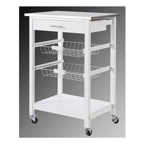 Küchenwagen #72 Teewagen mit Einer Schublade Küchenschrank Rollwagen Edelstahl