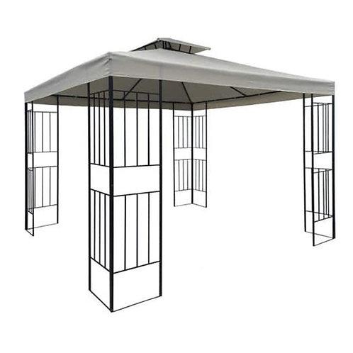 WASSERDICHTER Pavillon Borneo 3x3m Metall inkl. Dach Festzelt wasserfest