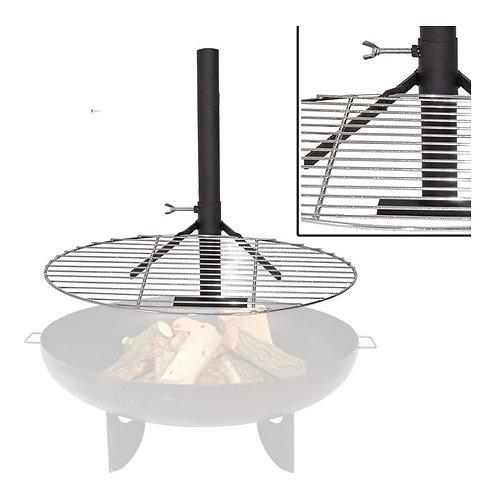 Grillrost mit Halterung für Feuerschale/Feuerkorb Grill Klemme