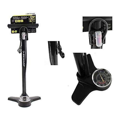 Fahrradpumpe #Dunlop mit Druckanzeige für alle Ventile Fahrrad Standluftpumpe
