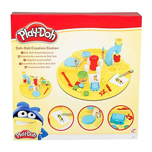 Play-DOH Kinder Bastelset Doh-Doh-Kreativitätsstand, 41 tlg