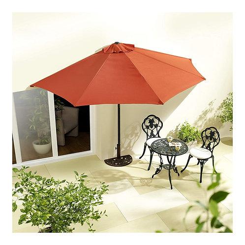 Sonnenschirm halbrund rechteckig Wandschirm für Balkone oder Terrassen