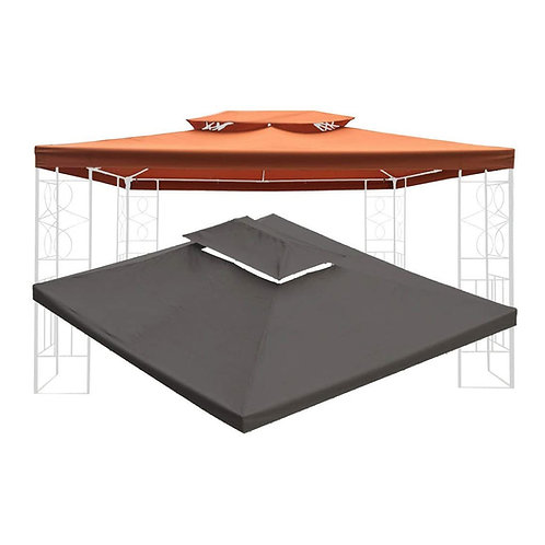 WASSERDICHT Ersatzdach 3x4m Dach 340g für Pavillon Kaminabzug Pavillondach PVC