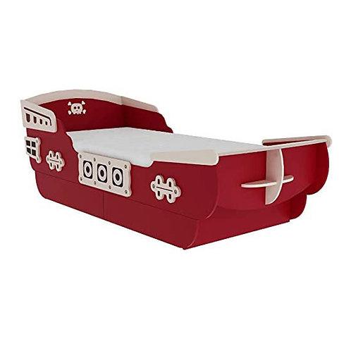 Kinderbett Pirat Bett Piratenbett Spielbett mit Schubfach unterm Bett 120x200cm