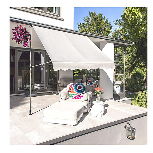 Klemmmarkise Beige Balkonmarkise Sonnenschutz Gelenkarmmarkise ohne Bohren