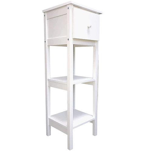 Salontisch Beistelltisch Telefontisch Tisch Flurtisch Weiss 100cm hoch