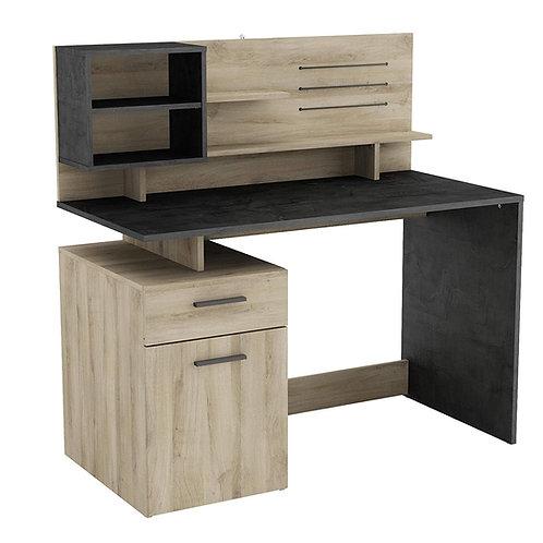 Schreibtisch mit Kabeleinlass und USB-Anschluss inkl. Rückwand Gross Schubfach