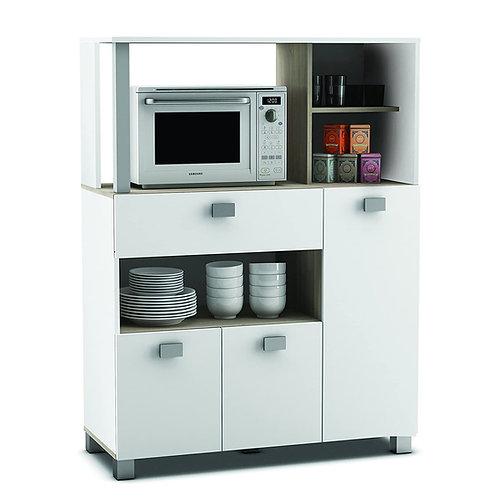 Küchenschrank 146 weiß Küchenregal Küchenmöbel Mikrowellenschrank Buffetschrank