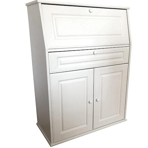 Sekretär Kommode Flurschrank Büroschrank mit Klappe und 2 Türen, Schublade