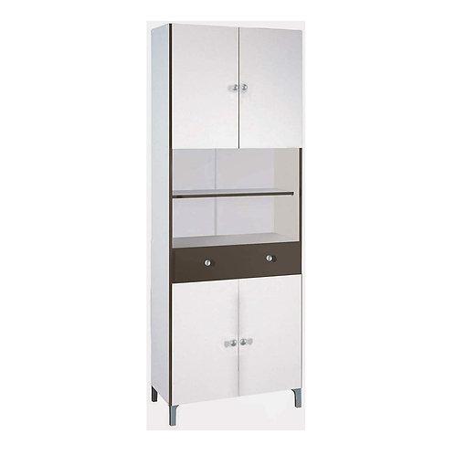 Hochschrank #540 weiß Basalt Küchenschrank Küchenregal Schrank Küche Buffet