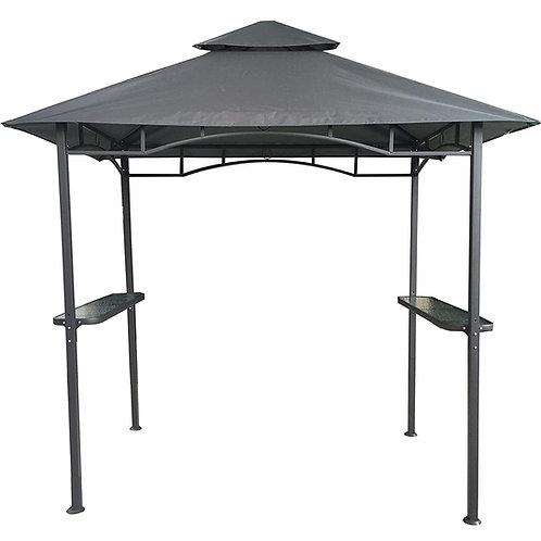 Grillpavillon Wasserdicht 310g/m² PVC Dach Pavillon 250x150 cm mit Ablage