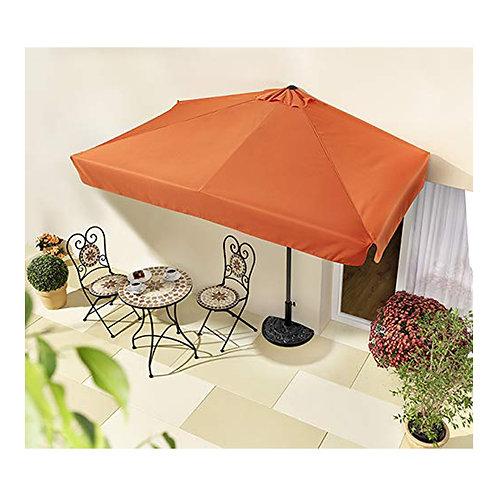 Sonnenschirm halbrund rechteckig Wandschirm für Balkone oder Terrassen Polyester