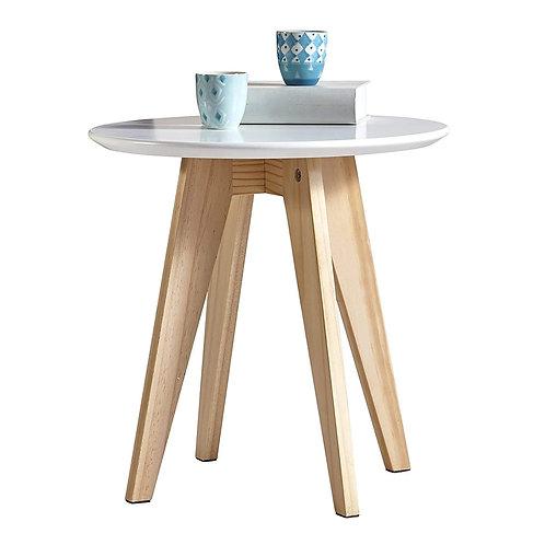 Beistelltisch Rondo aus Echtholz und MDF mit extra Dicker Tischplatte