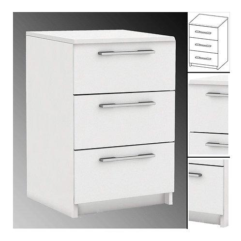NACHTTISCH #604 weiß 3X Schublade Holz Nachtschrank Nachtisch Nachtschränkchen