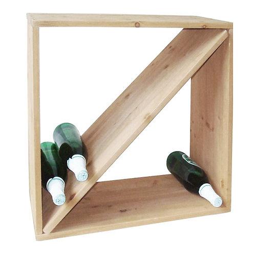 Weinregal Weinständer Wein - Regal Holz massiv Weinflaschen - Regalsystem Stand