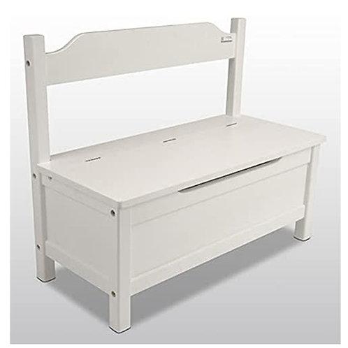 KINDERBANK Kindertruhe weiß 70x50x30cm SOFT CLOSE Bank Kindermöbel Stuhl Sitzmöb