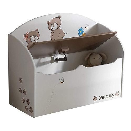 Spielzeugtruhe TED & LILY Truhe Kindertruhe Spielkiste Sitzbank Kiste Kinderbank