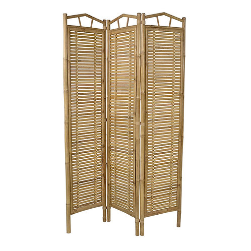 Paravent Raumteiler 180x120 cm aus Bambusholz spanische Wand Trennwand Holzmöbel