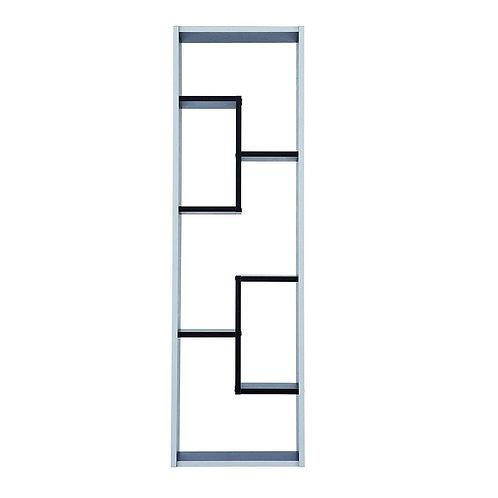 Regal Grafit #521 schwarz weiß 5 Fächer Standregal Bücherregal Büroregal Schrank