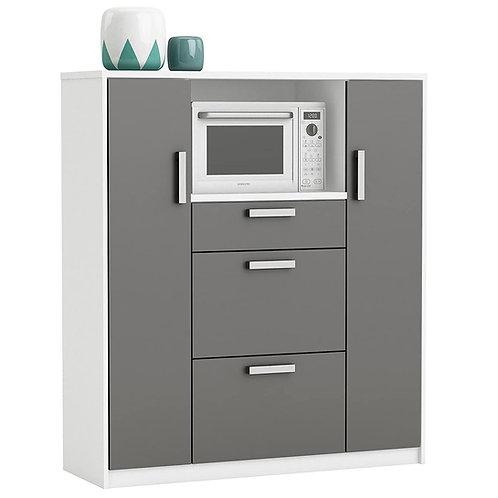 Küchenschrank 8540 weiß anthrazit