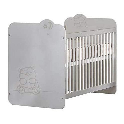 Babybett Bärchen mit Lattenrost 60x120cm Kleinkindbett Kinderbett Bett