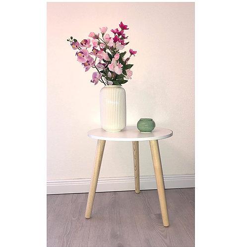 Beistelltisch Rondo Tisch Echtholzbeine Ø40cm Flurtisch Nachtkommode Blumentisch
