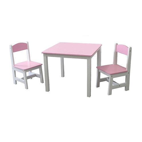 Kindermöbelset Kindertisch & 2 Stühle Kindersitzgruppe Sitzgruppe Tisch Stuhl