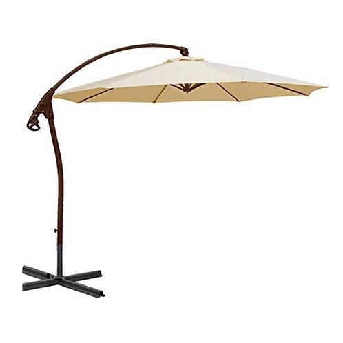 WASSERDICHT Luxus Ampelschirm 3m Beige durch PVC Schirm 300cm Sonnenschirm
