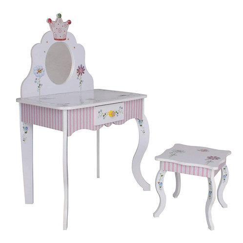 Kinderschminktisch (#988) Kindertisch Prinzessin Kinder Mädchen Schminktisch