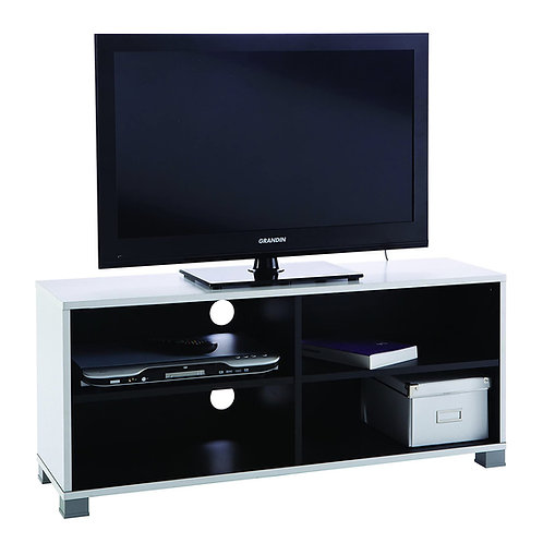 TV-Bank Grafit #218 Hifi-Tisch Kommode Fernsehtisch weiß / schwarz